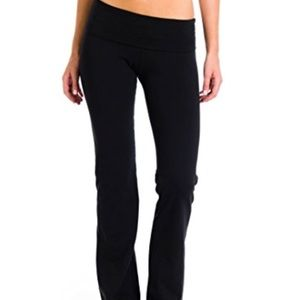 Hardtail foldover leggings in black